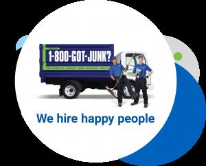 We Hire Happy People at 1800GotJunk